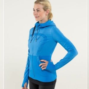 EUC Lululemon Dance Studio Jacket, Blue, sz 6